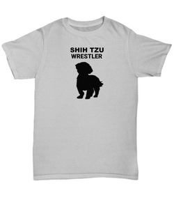 SHIH TZU WRESTLER, Adult, Cotton, T-Shirt