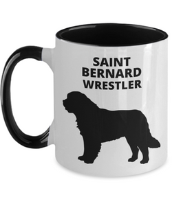 SAINT BERNARD WRESTLER, Two-Tone, Ceramic, !!oz, Coffee Cup