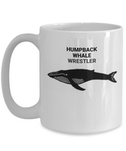 Humpback Whale Wrestler White Coffee Cups
