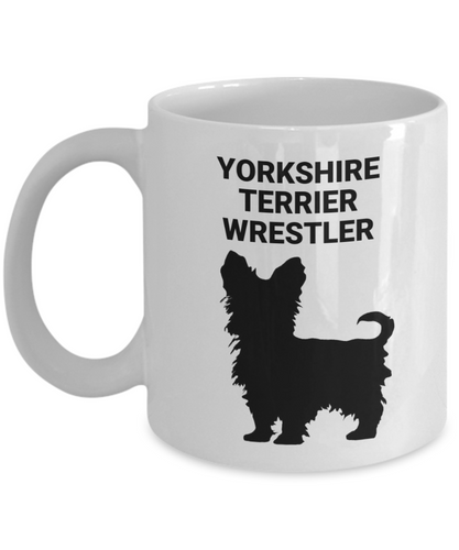 YORKSHIRE TERRIER WRESTLER, White, Ceramic, Coffee Cups