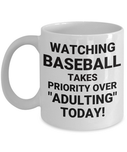 "WATCHING BASEBALL TAKES PRIORITY OVER ""ADULTING"" TODAY! CC WHITE"