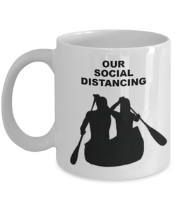 Our Social Distancing, Canoeing Couple, White Coffee Cups