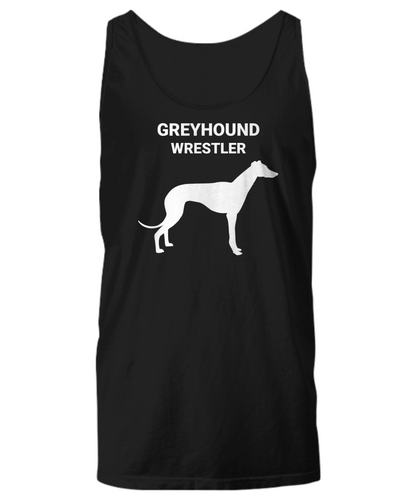 GREYHOUND WRESTLER, Cotton, Unisex Tank Tops