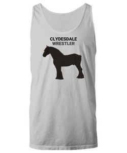 Clydesdale Wrestler Gray Unisex Tank Top
