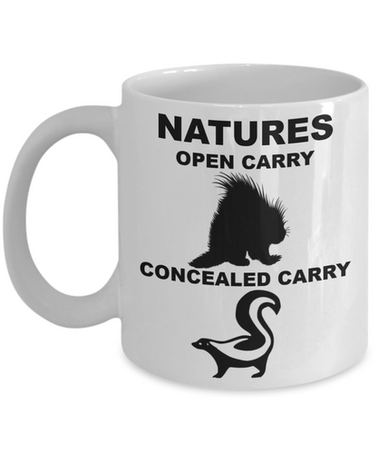 NATURES OPEN CARRY, CONCEALED CARRY, Coffee Cups