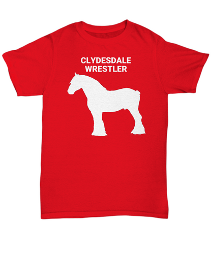 Clydesdale Wrestler Adult T-Shirts