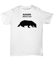 Badger Wrestler Adult T-Shirt