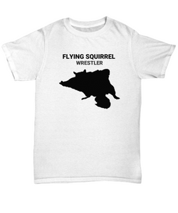 Flying Squirrel Wrestler Adult T-Shirt