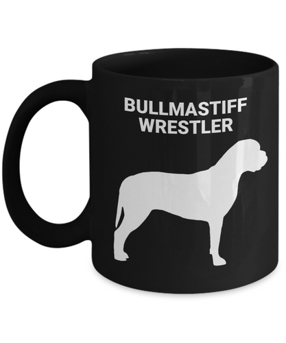 BULLMASTIFF WRESTLER, Black, Ceramic, Coffee Cups