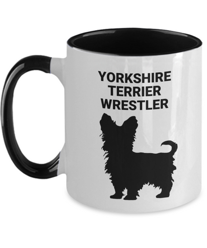 YORKSHIRE TERRIER WRESTLER, Two Tone, Coffee Cups