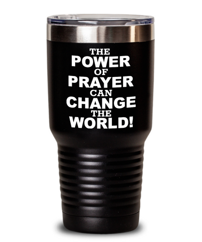 The Power Of Prayer Black Tumblers