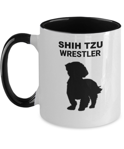 SHIH TZU WRESTLER, Two Tone, Coffee Cup