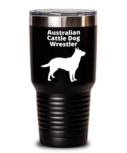 Australian Cattle Dog Wrestler 30oz. Black Tumbler