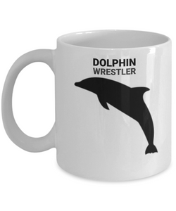Dolphin Wrestler White Coffee Cups