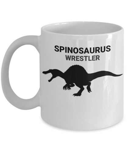 Spinosaurus Wrestler White Coffee Cups