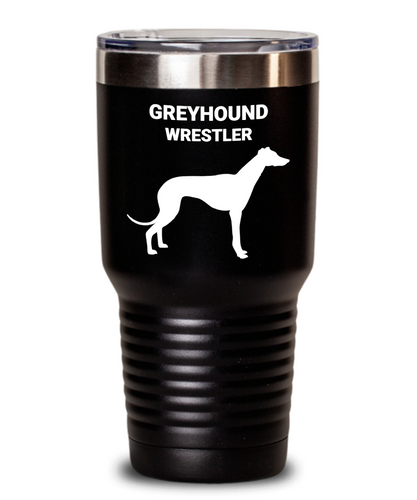 GREYHOUND WRESTLER, Black, Stainless Steel, Vacuun Insulated, Tumblers