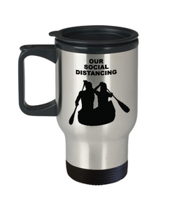 SOCIAL DISTANCING, Canoeing Couple, Travel Mug