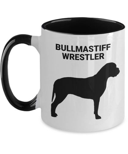 BULLMASTIFF WRESTLER, Two-Tone, Ceramic, Coffee Cup