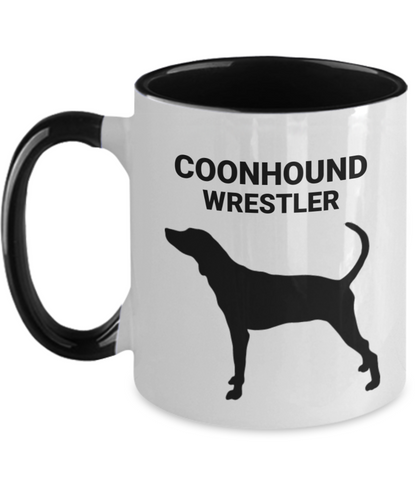 COONHOUND WRESTLER, Two-Tone Coffee Cup