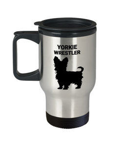 YORKIE WRESTLER, Travel Mug