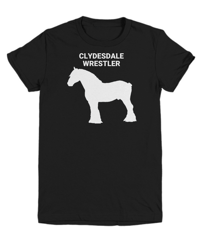 Clydesdale Wrestler Black Youth T-Shirt