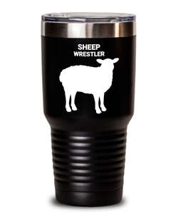 Sheep Wrestler Black Tumblers