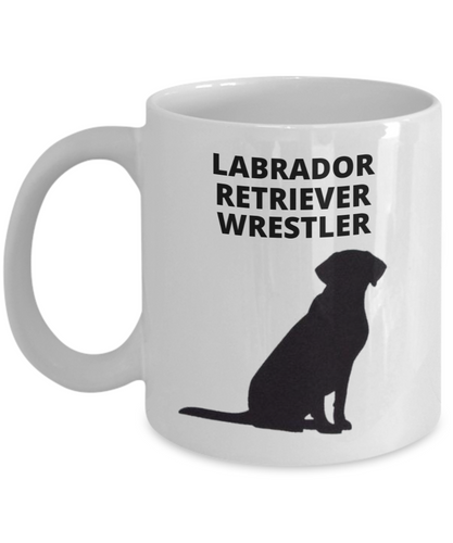 LABRADOR RETRIEVER WRESTLER, White, Ceramic, Coffee Cups