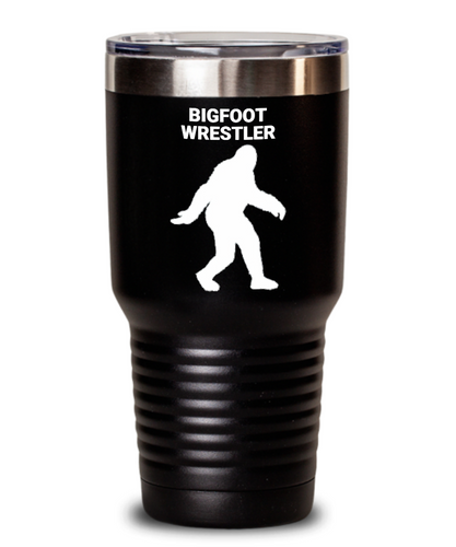 Bigfoot Wrestler Black Tumblers