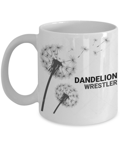 Dandelion Wrestler White Coffee Cups