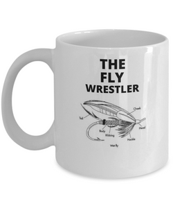 The Fly Wrestler White Coffee Cups
