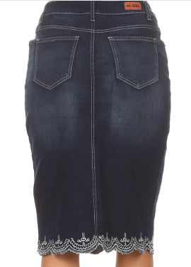 Dark Indigo Eyelet Denim #227 XS-3X.