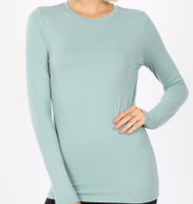 NEW!  Light Green Layering Top : S-XL and 1X-3X  Arrives: 5/6