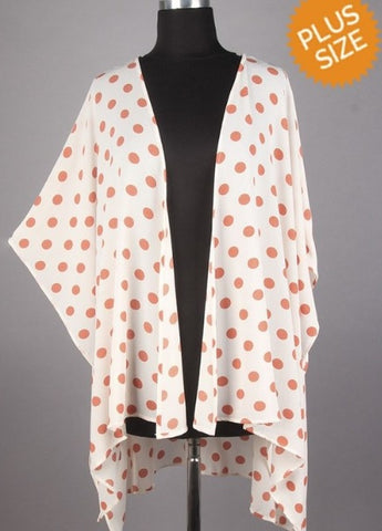 Plus Polka Dot Cardigan  XL-3X   FINAL Sale! Cannot Be Returned!