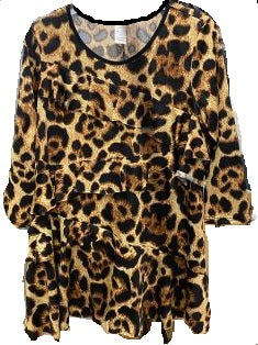 NEW! RC Original Leopard Print Ruffle Top: S-XL and 1X-3X  Arrives: 2/23