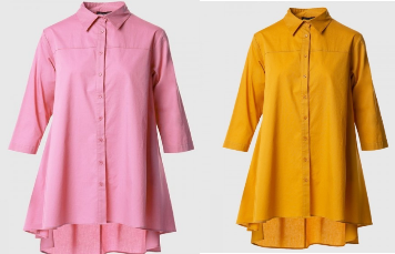 Restocked! Mauve or Mustard High/Low Blouse S-L.