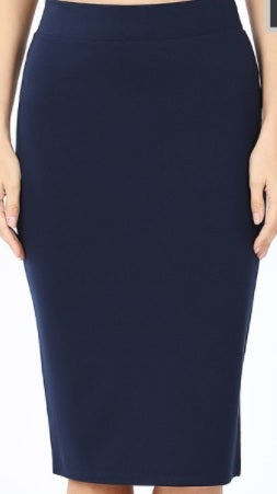 Navy Ponte. XBA (REVISED FIT!) 1X-3X Fits up to size 22!