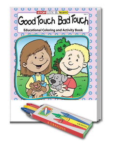 25 Pack - Good Touch Bad Touch Kid's Educational Coloring & Activity Books - ZoCo Products