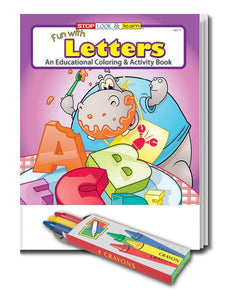 25 Pack - Fun with Letters Kid's Educational Coloring & Activity Books - ZoCo Products