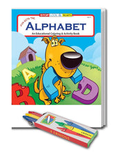Load image into Gallery viewer, 25 Pack - Fun With The Alphabet Kid's Educational Coloring & Activity Books - ZoCo Products