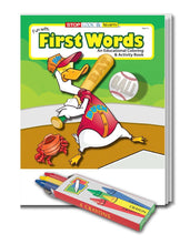 Load image into Gallery viewer, 25 Pack - Fun With First Words Kid's Educational Coloring & Activity Books - ZoCo Products