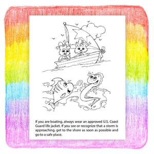 25 Pack - Ocean Safety Awareness Kid's Educational Coloring & Activity Books - ZoCo Products