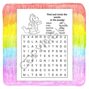 25 Pack - Learn About Eye Care Kids Coloring & Activity Books - ZoCo Products