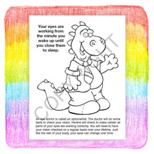 Load image into Gallery viewer, 25 Pack - Learn About Eye Care Kids Coloring & Activity Books - ZoCo Products
