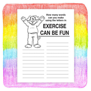 25 Pack - Exercise Can Be Fun Kid's Coloring & Activity Books - ZoCo Products