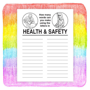 25 Pack - A Guide to Health and Safety Kid's Coloring & Activity Books - ZoCo Products