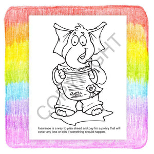 25 Pack - We All Need Insurance Kid's Coloring & Activity Books - ZoCo Products