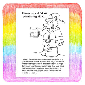 25 Pack - Practice Fire Safety Kid's Coloring & Activity Books in Bulk - Spanish Version - ZoCo Products