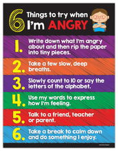 Load image into Gallery viewer, Kids Anger Management Poster - 17 x 22 in, Laminated