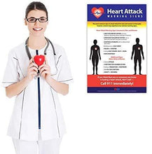 "Load image into Gallery viewer, Heart Attack Symptoms Poster - 12""x18"" - Laminated"