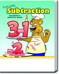 25 Pack - Fun With Subtraction Kid's Educational Coloring & Activity Books - ZoCo Products